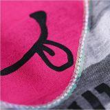 Вышивка Esequins печатание втулки Raglan лета женщин Stripes тенниска хлопка