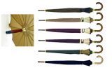 16k Stick Manual Strip Border Solid Umbrellas (YS-SM26163417R)