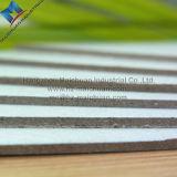 Tarjeta plegable presionada gruesa del rompecabezas de la viruta gris del papel de la cartulina
