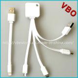 Homologation neuve 3 de Mfi en 1 câble de remplissage de caractéristiques d'USB pour iPhone6/Samsung