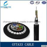 GYTA33 trenzó precio enterrado directo al aire libre del cable subacuático del cable óptico de fibra del cable acorazado flojo del tubo por el contador
