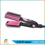1명의 머리 빗 머리 브러쉬 편평한 철 머리 직선기에 대하여 똑바로 전기 LCD 3