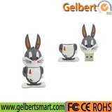 Custom Flash Portable Portable Rabbit Shield USB Disk para presente