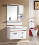 PVC moderno Bathroom Furniture de Type Wall Mounted com Side Cabinet