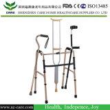 Het vouwen van de Wandelstok van de Kruk/het Lopen Riet met het Lopen van de Functie van de Stoel Lichtgewicht/Hulp met Zetel