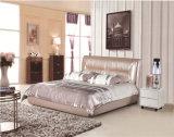 Base de couro macia da mobília da base do quarto