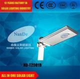 Energía de gran alcance toda en una luz de calle solar