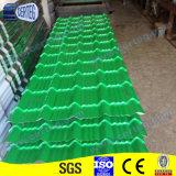 Vermelho/verde/tipo cinzento de África corrugou o preço vitrificado aço da telha de telhadura