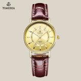 Gemerkt Horloge 70010 van de Minnaar van het Paar van het Leer van de hoogste Kwaliteit Echt Pols