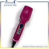 Cadeau de beauté Straightener à cheveux de haute qualité Anion Straight Hair Comb Brosse à broder à chaud avec écran LCD Brosse électrique