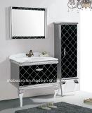 Gabinete de banheiro preto do aço inoxidável da placa