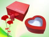 Горячая штемпелюя коробка подарка закрытия черноты логоса цветка магнитная