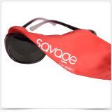 Bolsa ultra fina de las gafas de sol del lazo de la Solo-Cara de la fibra del rojo