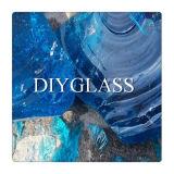 Het blauwe Gekleurde Glas van het Blok voor de Decoratie van de Tuin