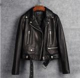 Wemenのオートバイのジャケットのための本物のヒツジの革のジャケット