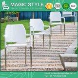 Do jardim Stackable da cadeira do pátio jogo de jantar ao ar livre ajustado de jantar de vime (estilo mágico)