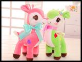 Brinquedo macio do luxuoso do fantoche do animal de estimação da pele do animal enchido do cavalo para as crianças (CJP282)