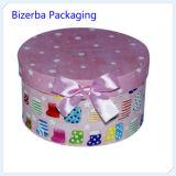 Boîte d'emballage de papier se pliante chaude de cadeau de forme ronde