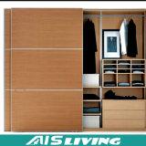 Armário de madeira do Wardrobe da porta de Slidiing ajustado (AIS-W002)
