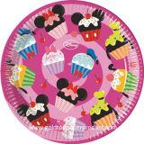 Placas de papel del alumerzo para la fiesta de cumpleaños