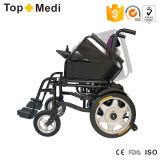 Foldable Backrest를 가진 Topmedi Economical Basic Electric Wheelchairs