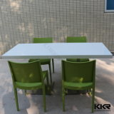 Искусственная каменная акриловая твердая поверхностная обедая таблица 6 Seater для дома