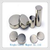 Grosses Size Neodymium Cylinder Magnet mit Nickel Plating