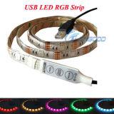 Indicatore luminoso di striscia flessibile caldo della striscia 5V 1.2W LED del USB 5050 LED RGB di vendite 50cm