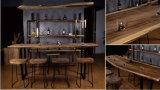 L'annata ha personalizzato la Tabella di legno della barra della noce impostata con le feci (CG-004)