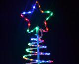 Arbres en spirale de corde de LED pour Noël