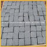 회색 까맣고 또는 노랗고 또는 빨강 화강암 입방 돌, Cubestone 의 포석, 자연적인 표면을%s 가진 조약돌