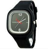 El análogo de cuarzo encantador rojo de los pétalos del corazón de las mujeres Yxl-971 del silicón de la venda de la venta caliente con estilo de la jalea se divierte el reloj