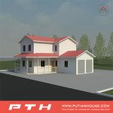 Casa Prefab clássica da casa de campo com materiais disponíveis