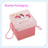 Rosafarbenes Color Corrugated Gift Folding Paper Gift Box mit Cotton Handle