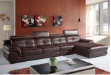 Leather moderno Sofa Furniture Sectional Sofa con Genuine Leather