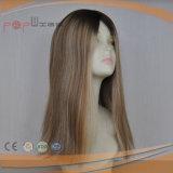 Do trabalho louro da parte superior da pele da cor do cabelo humano cutícula cheia Intact na peruca do laço da parte dianteira do cabelo