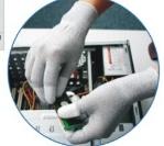 Покрытие PU, противостатический PU покрыло перчатки, перчатки ладони подходящие