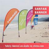 Indicateur bon marché de clavette de larme de plage d'impression de tissu fait sur commande de polyester