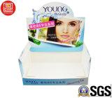 Caja de presentación para la máscara facial, rectángulo para los productos cosméticos, rectángulo de la demostración del soporte del papel de la hebra