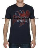 T-shirt en gros fait sur commande d'été de mode de coton d'impression de l'écran des hommes
