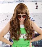 멋진 형식 여자 긴 곱슬머리 큰 파 머리 가발