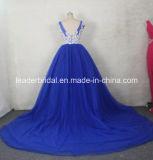 Diamante Partei-Abschlussball bekleidet das Champagne-Blau, das Abend-Kleid Gv2016 bördelt