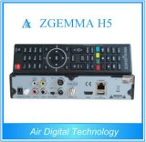 2016 Doppeltuners spätester hoher des CPU-Zgemma H5 FTA HD Fernsehapparat-Sat Empfänger-Doppelkern-Linux OS-E2 Hevc/H. 265 DVB-S2+ Mischling-DVB-T2/C