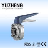 Válvula de borboleta sanitária do ISO de Yuzheng com extremidades da soldadura