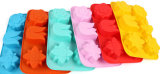Прессформа мыла прессформы шоколада пудинга студня силикона цветка 6 отверстий Handmade
