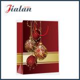 Regalos impresos de la Feliz Navidad del papel revestido de la promoción pila de discos bolsos de compras