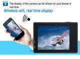 4k verdoppeln die Bildschirm WiFi Sturzhelm-Sport-Kamera, die mit wasserdichtem Mini ist