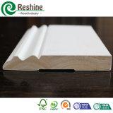 Moulage en bois de Baseboard de mur d'amorce commune de doigt