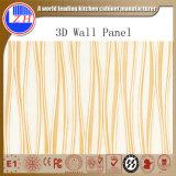 Tarjeta del panel de madera de pared 3D