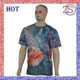 Maglietta asciutta di misura sublimata tintura su ordinazione piena di sublimazione di stampa